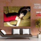Daisy Lowe Hot Model Red Dress Huge Giant Print Poster