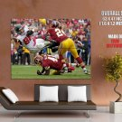 Tony Gonzalez Tackled Falcons Nfl Sport Huge Giant Print Poster