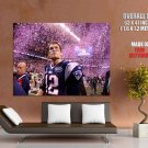 Tom Brady New England Patriots Nfl Sport Huge Giant Print Poster