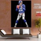 Eli Manning New York Giants Nfl Sport Huge Giant Print Poster