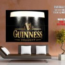 Guinness Draught Beer Macro Alcohol Drinking HUGE GIANT Print Poster