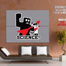 Science Robot Minimal Cool Art HUGE GIANT Print Poster