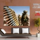 Machine Gun Rounds Weapon Military HUGE GIANT Print Poster
