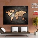 World Map Grunge Educational Science HUGE GIANT Print Poster