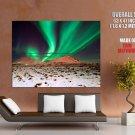 Polar Aurora Glow Night Nature HUGE GIANT Print Poster