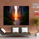 New York City Sunset Nyc Buildings Huge Giant Print Poster