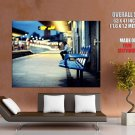 Train Station Night Lights Cityscape HUGE GIANT Print Poster