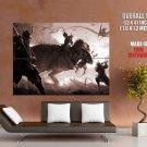 Tyrannosaurus Vs Samurai Fantasy Art HUGE GIANT Print Poster