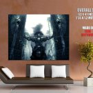 Warrior Gate Rain Fantasy Art Huge Giant Print Poster