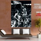 Karl Malone Dunk Utah Jazz Bw Nba Huge Giant Print Poster