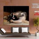 Robert Pattinson Elephant Movie Actor HUGE GIANT Print Poster