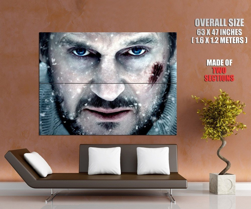 Liam Neeson Grey Movie Actor Huge Giant Print Poster