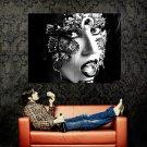 Lady Gaga Hot Portrait Singer Music BW Huge 47x35 Print POSTER