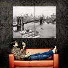New York City Brooklyn Bridge NY Retro Huge 47x35 Print POSTER