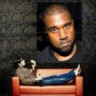 Kanye West Hip Hop Music Rap Singer Huge 47x35 Print POSTER