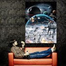 Star Wars Hoth Epic Battle At At Art Huge 47x35 Print POSTER