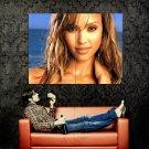 Jessica Alba Hot Portrait Face Actress Huge 47x35 Print POSTER