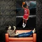 Michael Jordan Dunk Art NBA Basketball Huge 47x35 Print POSTER
