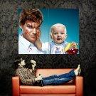 Dexter TV Series Michael C Hall Baby Huge 47x35 Print POSTER