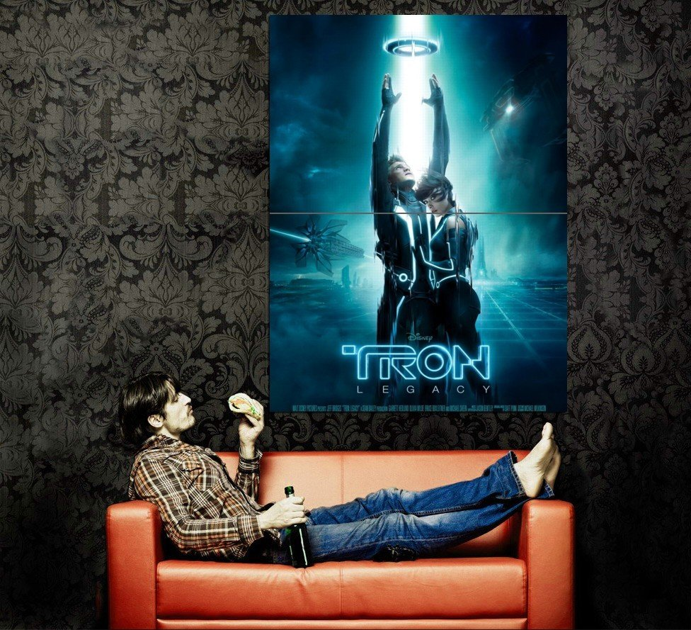 Tron Legacy Movie 3 D Huge 47x35 Print Poster