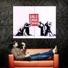 Sale Ends Today Worship Banksy Graffiti Street Art Huge 47x35 Print POSTER