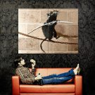 Tightrope Walking Rat Banksy Graffiti Street Art Huge 47x35 Print POSTER