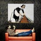 Maid Banksy Graffiti Street Art Huge 47x35 Print POSTER