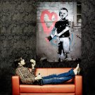 Boy Brush Heart Banksy Graffiti Street Art Huge 47x35 Print POSTER