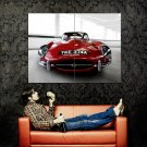 Jaguar E Type Red Front Car Huge 47x35 Print POSTER