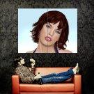 Milla Jovovich Portrait Vector Art Huge 47x35 Print POSTER