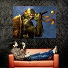 Michelangelo TMNT Teenage Mutant Ninja Turtles Dark Art Huge 47x35 Print POSTER
