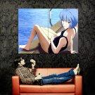 Neon Genesis Evangelion Rei Hot Swimsuit Anime Huge 47x35 Print POSTER