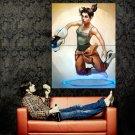 Portal Girl Art Aperture Video Game Huge 47x35 Print POSTER