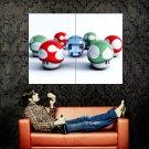 Super Mario Mushrooms Video Game Huge 47x35 Print POSTER