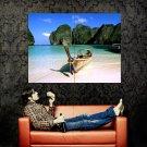 Phi Phi Island Thailand Boat Beach Nature Landscape Huge 47x35 Print POSTER