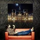 Hotel De Ville Night Paris France Huge 47x35 Print POSTER