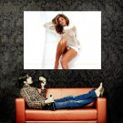 Eva Mendes Hot Netted Shirt Sexy Actress Huge 47x35 Print POSTER