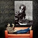 John Lennon Vintage Retro BW Music Huge 47x35 Print POSTER