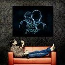 Daft Punk Neon Art House Music Huge 47x35 Print POSTER