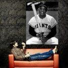 Willie Mays MLB Giants Baseball BW Sport Huge 47x35 Print POSTER