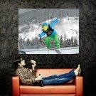 Snowboarding Sliding Extreme Sport Huge 47x35 Print POSTER