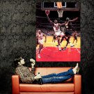 Michael Jordan Layup Vs Kemp Bulls Sonics NBA Basketball Huge 47x35 POSTER