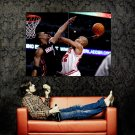 Taj Gibson Dunk Bosh Chicago Bulls NBA Basketball Huge 47x35 POSTER