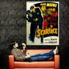 Scarface 1932 Movie Gangster Paul Muni Outlaw Huge 47x35 POSTER