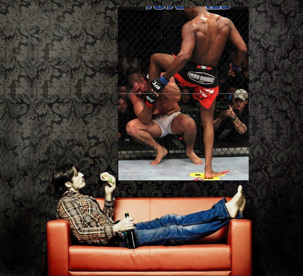 Jon Jones Bones Kick Shogun MMA Mixed Martial Arts Huge 47x35 POSTER