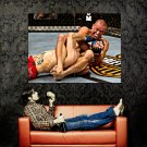 Georges St Pierre GSP Vs Dan Hardy MMA Mixed Martial Arts Huge 47x35 POSTER