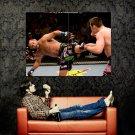 Dan Henderson Kick Rich Franklin MMA Mixed Martial Arts Huge 47x35 POSTER