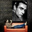 Sean Connery Portrait Legendary Actor Vintage BW Huge 47x35 POSTER