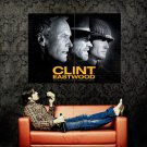 Clint Eastwood Movies Legendary Actor BW Huge 47x35 POSTER