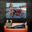 Ducati Street Hot Babe Sexy Bikini Sport Bike Motorcycle Huge 47x35 POSTER